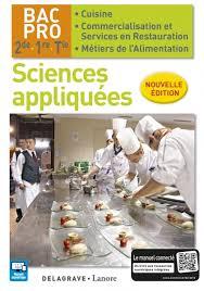 Sciences Appliquées 2de 1re Tle Bac Pro Cuisine Et Csr 2016
