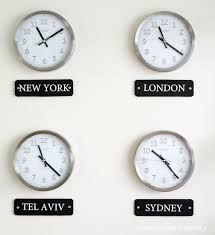 office clock wall. How To Make A World Clock Wall Display Office O