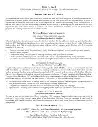 Collection Of Solutions Resume Examples Templates Special Education