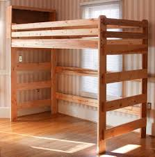 Loft bed built using plans from Bunk Beds Unlimited. Extra long tall loft  bed someone