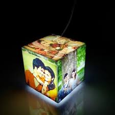 online cube cube mini photo lamp personalised lamp online gifts