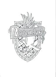 Harry Potter Coloring Pages Harry Potter Coloring Pages Ravenclaw