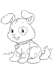 Cute Puppy And Ice Cream Pet Dog Coloring Page Coloring Pics L L