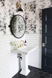 Powder Room Wallpaper Top 25 Best Small Bathroom Wallpaper Ideas On Pinterest Half