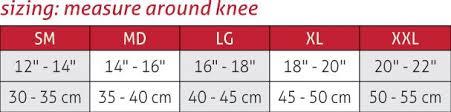 Mcdavid Knee Pads Size Chart Hinged Knee Brace