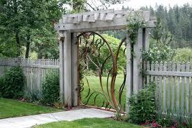garden wooden gates image of garden gates fences garden wooden gates bq
