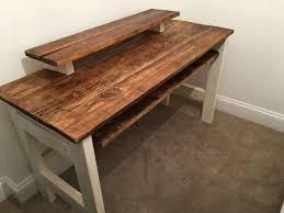 stunning natural brown wooden diy corner desk. Interior Natural Brownn Corner Computer Desk With Drawers And Door On Astounding Wood Desks For Home Stunning Brown Wooden Diy