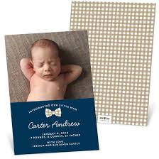 Boy Birth Announcements Custom Designs From Pear Tree