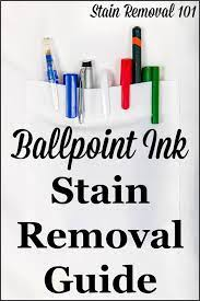 ballpoint ink stain removal guide