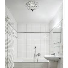 bathroom chandelier nickel plafond 36cm with octagon crystals 103 615 501 ip44 by gustavian in chandeliers