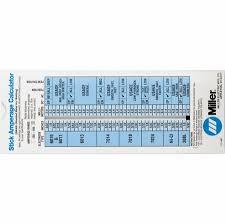 Stick Welding Chart Miller Stick Welding Calculator 171087