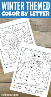 Set them up for success in reading early on. Winter Color By Letter Free Printable Trail Of Colors