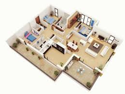 Architecture Simple House Plan 3d Home Design Mannahatta Us