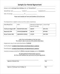 Company Vehicle Use Agreement Policy 35 Free Agreement Forms Free