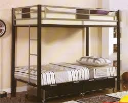 Silver Black Metal Twin Bunk Bed
