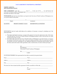 Personal Loan Agreement Form Resume Template Contract Sample