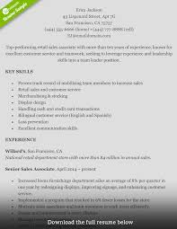 Resume Sapmles How To Write A Perfect Retail Resume Examples Included