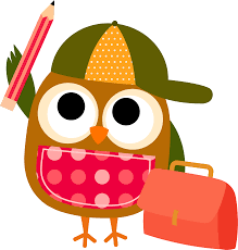 Image result for owl going to school clipart free