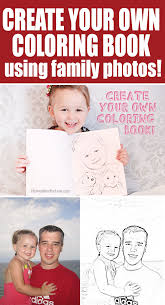 Small Picture Make Your Own Coloring Book with Family Photos Coloring books