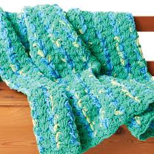 Bernat Crochet Patterns Beauteous Bernat Bright And Easy Crochet Blanket Yarnspirations