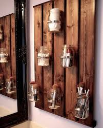 Creative diy rustic home decor ideas Bathroom After That Paint The Mason Jars Pallet Organizer Using The Wood Stain And It Will Be Ready To Use Keith Green Construction Cheap And Easy Diy Rustic Home Décor Ideas My Home Decor Guide