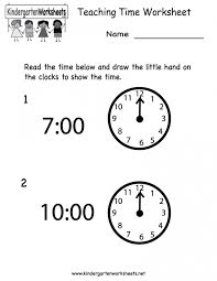 Kids : Telling Time Learning Chant For Kids Teaching Worksheets To ...