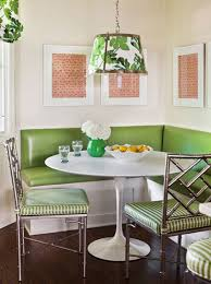 extraordinary dining room decorating with unique drum ceiling light ideas above round table furniture and best corner breakfast nook design also using dark