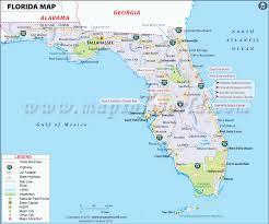 florida map map of florida (fl) state usa