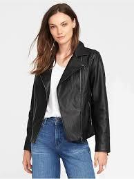 faux leather moto jacket for women