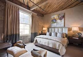 full size bedroom masculine. Rustic Masculine Bedroom With Wooden Ceiling And King Size Bed Also  Abstract Canvas Wall Art Full Size Bedroom Masculine