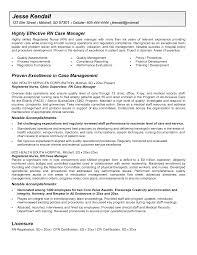 resume samples for rn case manager  example professional nursing