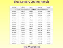 Thai Lottery Result Chart 2016 Full 34 Specific Thai Lottery Result Chart 2019