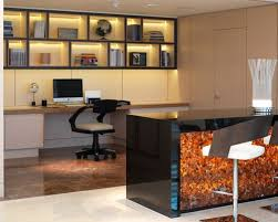 alcove office. Inspiration For A Contemporary Built-in Desk Brown Floor Study Room Remodel In London With Alcove Office