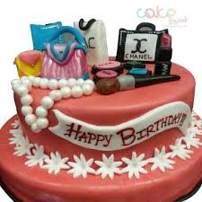 Odc152 Women Makeup Set Cake 1kg Designer Cakes Cake Square Chennai