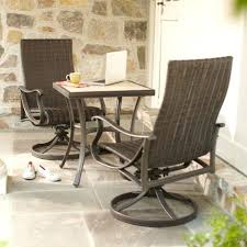 bay 3 piece patio bistro set the home depot pertaining to three