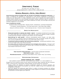 Hotel General Manager Resume Essayscope Com
