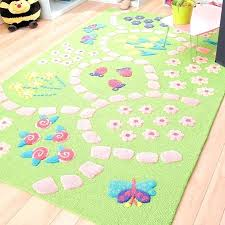 Ohila Rugs For Little Girl Room Girls Pretty Pink And Green Rug