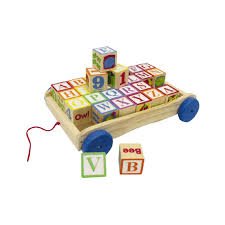 images first learning wooden pull along learning blocks wagon