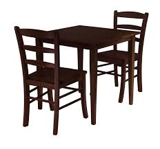 Dining Table With 2 Chairs Winsome 94332a Groveland 3pc Square Dining Table With 2 Chairs