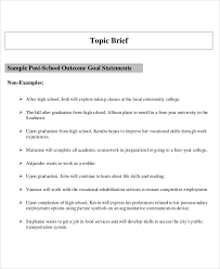 work statements examples sample goal statement 9 examples in word pdf