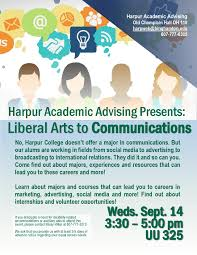 university programming outreach liberal arts to communication flier