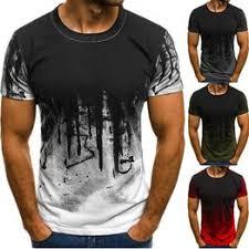 <b>Fashion</b> Men&#39;s Crewneck Short Sleeve <b>Gradient Color</b> Printed ...