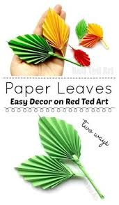 easy paper leaf this adorable paper leaf diy is based on an origami leaf pattern