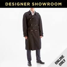 burberry mens belted black trench coat