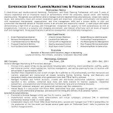 Sample Resume Event Coordinator Blaisewashere Com