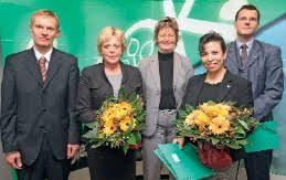 Jürgen Peter, Lotte Reilmann, Mechthild Ross-Luttmann, Maria Cartes, Horst Kierdorf (von links) Foto: AOK Niedersachsen - img134255