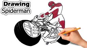Spiderman motorcycle coloring pages, superheroes motorbike, motorbike video, bike coloring video for kids. How To Draw Spider Man Riding His Motorbike Spiderman Motorcycle Drawing Coloring Pages For Kids Coloring Pages For Kids Coloring Pages Unicorn Coloring Pages