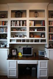 ... Charming Bookshelves And Desk Built In Bookcase With Desk Attached  White Wooden Cabinet