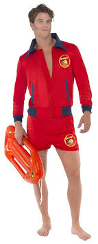 details about mens baywatch costume david hasselhoff beach liuard fancy dress uniform
