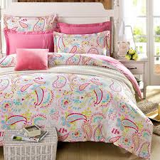 com cliab paisley bedding pink twin or queen for teen girls duvet cover set 100 cotton 5 pieces size optional home kitchen